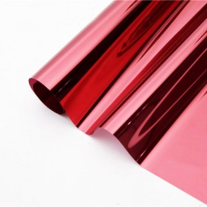 solar red silver tint building window film