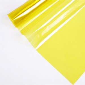 cheap decorative window film in yellow