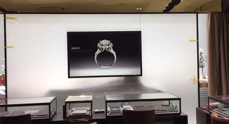 Electric Glass Foil Secure Displays High End Retail