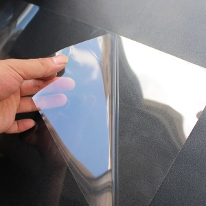 high transparency mirror safety backing film