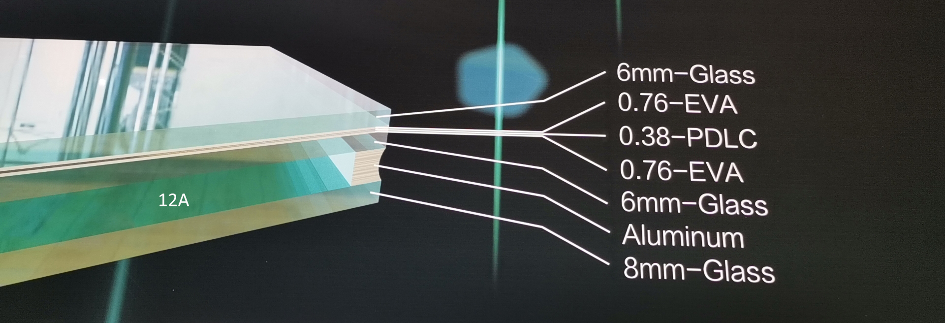 Hollow Laminated Switchable  Smart Glass