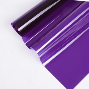 purple self adhesive decorative window film