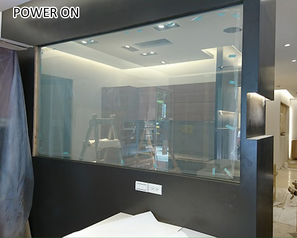 adhesive switchable smart pdlc privacy glass film