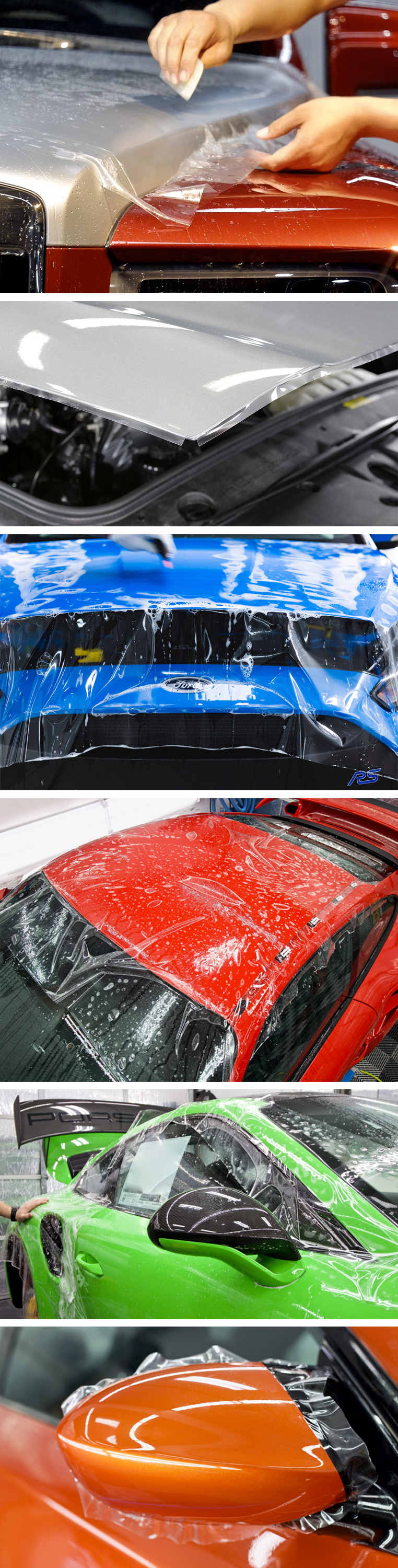 clear tpu paint protection film installation