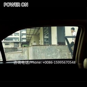 driver and passenger partition electronic window tint