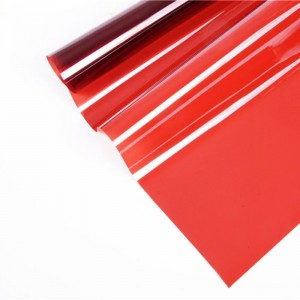 red color window decorative self adhesive film