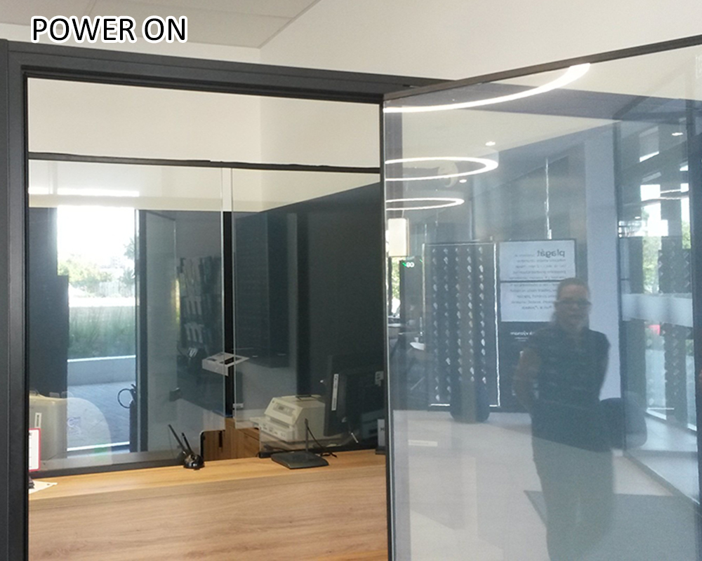 electronic switchable pdlc smart film for glass partition