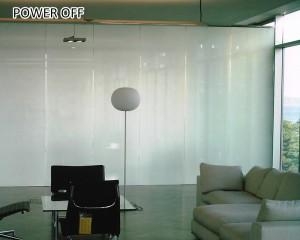 hotel bathroom smart glass foil