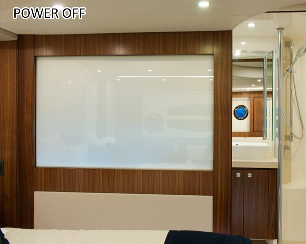high clarity switchable smart glass film pdlc tint