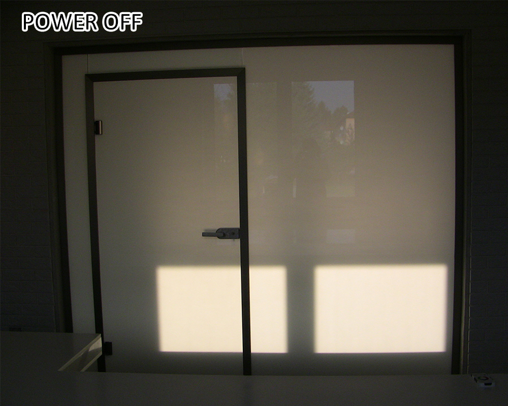 switch from transparent to opaque smart film