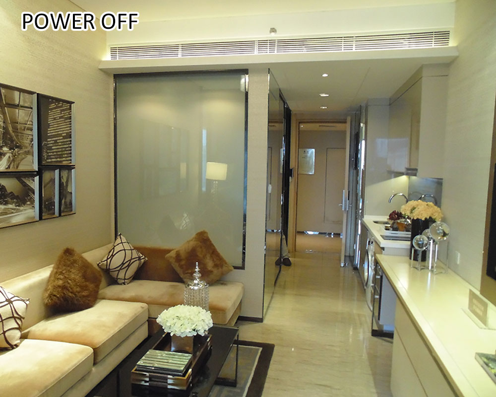 switchable pdlc film for shower glass wall Featured Image