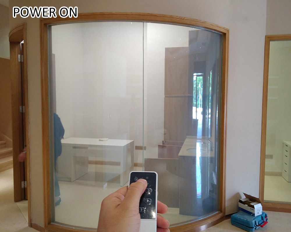 transparent to frosted pdlc smart film switchable